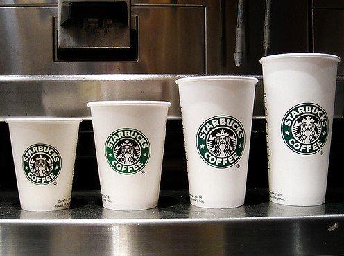 starbucks cups diffent