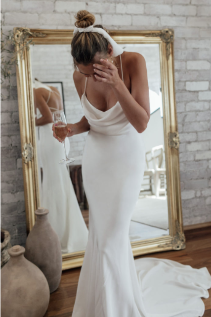 honey silk gown