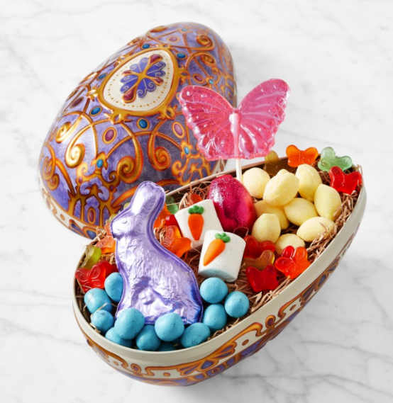 large easter egg with candy