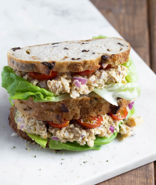 Vegan Caesar Smashed Chickpea Sandwich